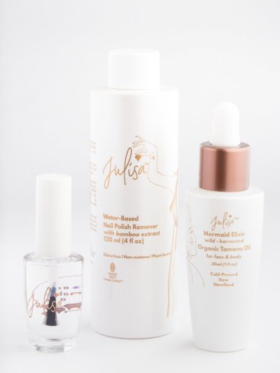 Julisa Vegan Toxic Free Nail Polish and Polish Remover Nail Care Trio Set JULISA.co