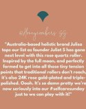 J-RO by Julisa 24K Gold Rose Quartz Face Roller Magic Wand (rose gold)