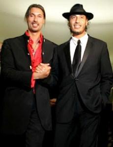 Mutassim (links) und Saadi al-Quadhafi
