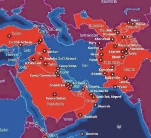 US-Militärbasen rund um Iran