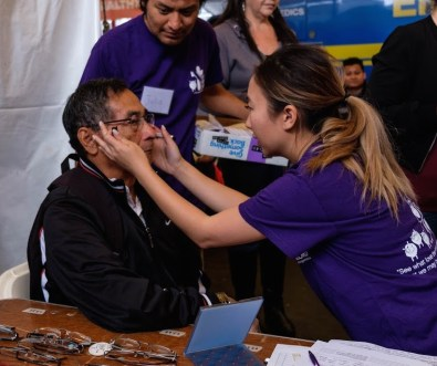Vision screening mission trip with See The Lord non-profit
