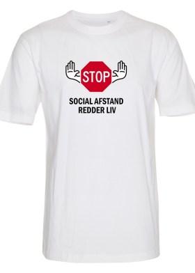 Foto_af_Classic_Subli_T_shirt_hvid_front_stop_social_afstand_redder_liv_st351_02