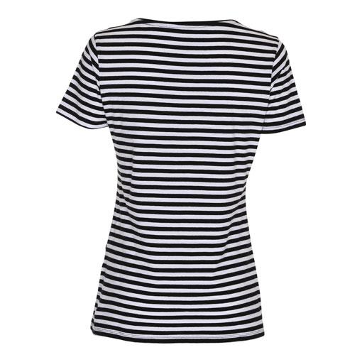 T-Shirt-Lady-Striped-Tee-BlackWhite-Ryg-ST214