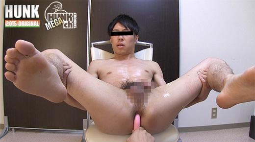 HUNK CHANNEL – OAV448 – 25歳のさっぱり顔なイケメンの悟君が、男の責めを初体験!!