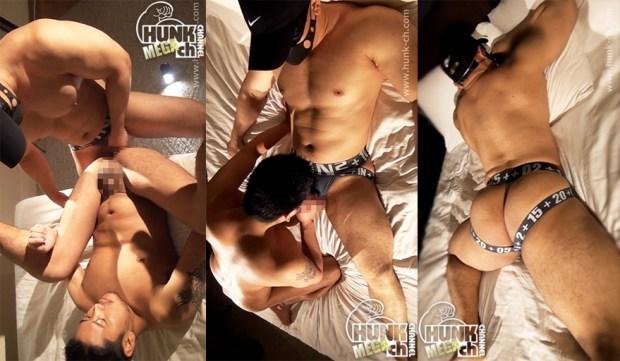 HUNK CHANNEL – WAM-033 – BLACK LEATHER 雄臭いフェロモンを放つ上反り勃起の淫獣がだいちの上下の性口を貪り喰う!!!