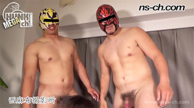 HUNK CHANNEL – NS-766 – 初登場!覆面野郎女体盛り(173cm90kg20歳・172cm85kg20歳)