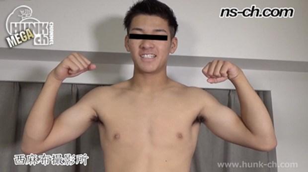HUNK CHANNEL – NS-877 – かっこ可愛いノンケ頑なに拒否していた男からの責めに挑戦169cm65kg19歳