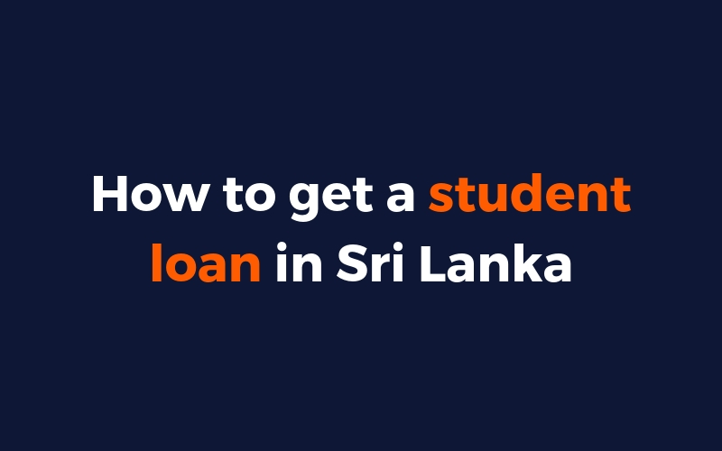 student loan in sri Lanka