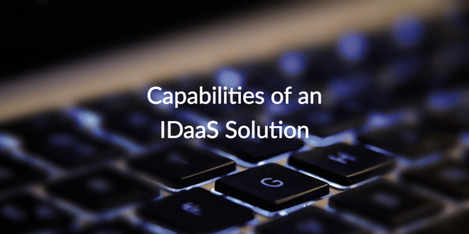 IDaaS capabilities