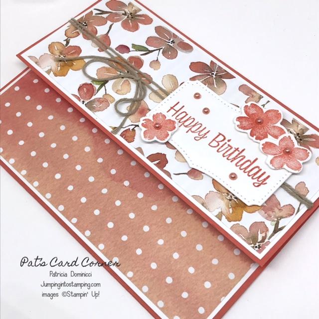Sweet as a Peach Pocket Fun Fold #2