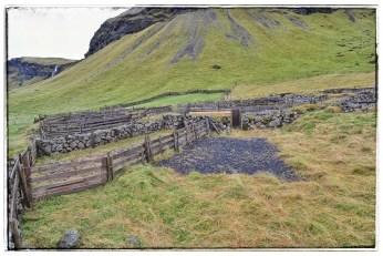 Sheep corral near Foss farmstead