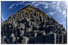 Ignorant Fench-speaking fuck on basalt columns at Reynisfiara