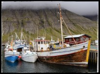 Wooden fishing boats, Isafjördur