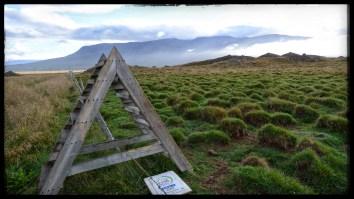 Lumpy Vatnasdalshólar hills, thought to be remnants of a catastrophic landslide