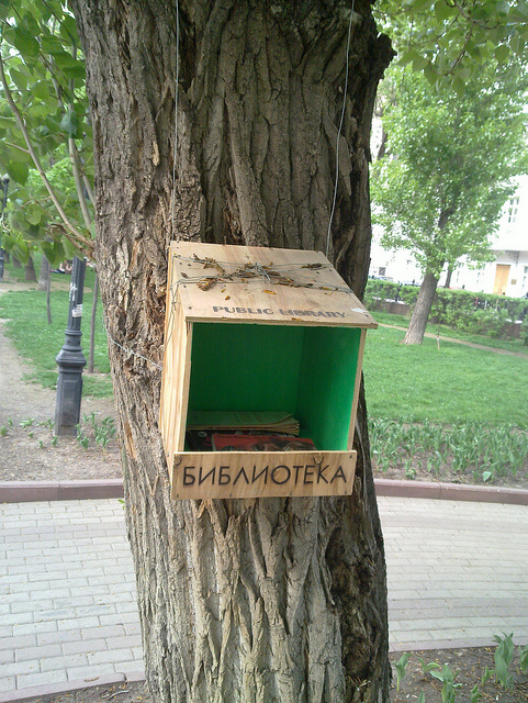 Moscow Mini Library. Photo by Charles Hutchins