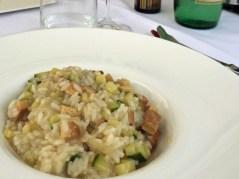 Rissoto with zuchinni and smoked tofu