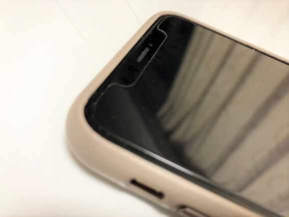 iPhoneXSのケース装着3