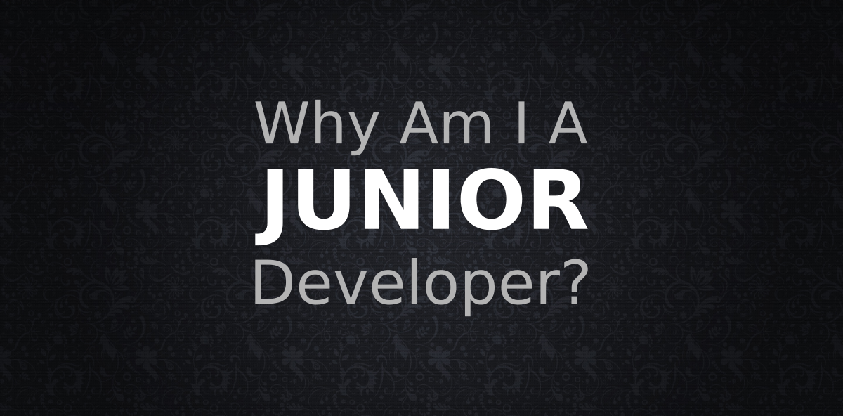 Why Am I A Junior Developer?