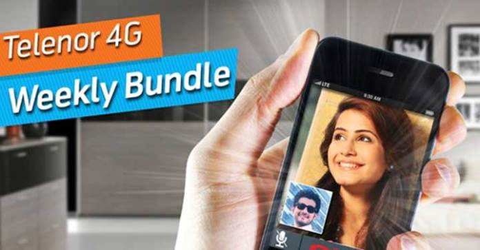 Telenor 4G Weekly Unlimited Internet Bundle