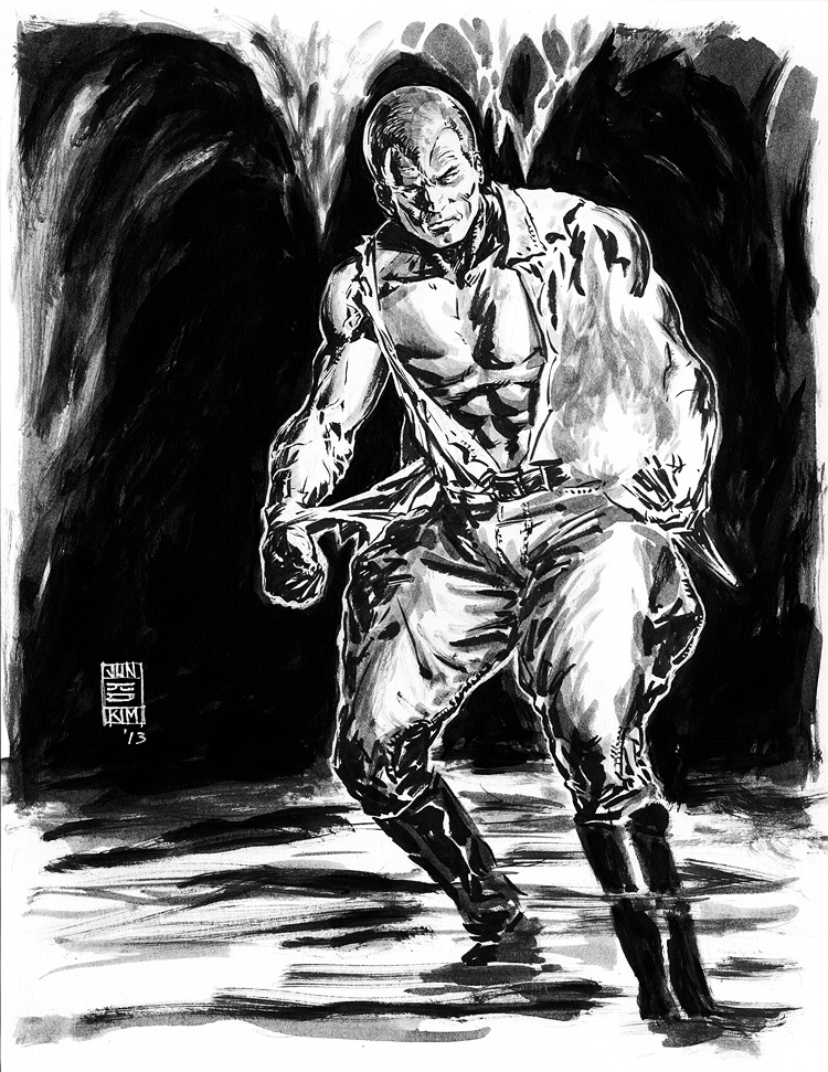 Doc Savage - Pulp Sketch by Jun Bob Kim