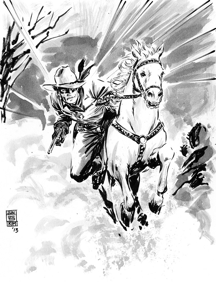 Lone Ranger - Pulp Sketch by Jun Bob Kim