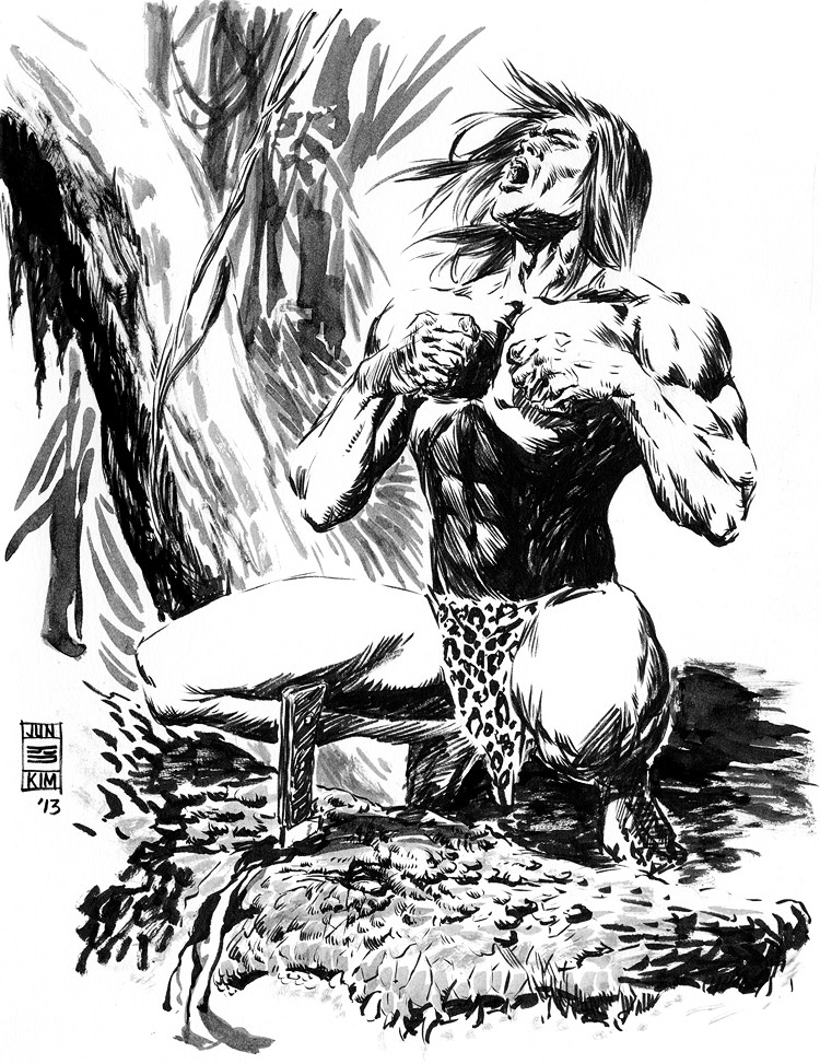 Tarzan - Pulp Sketch by Jun Bob Kim