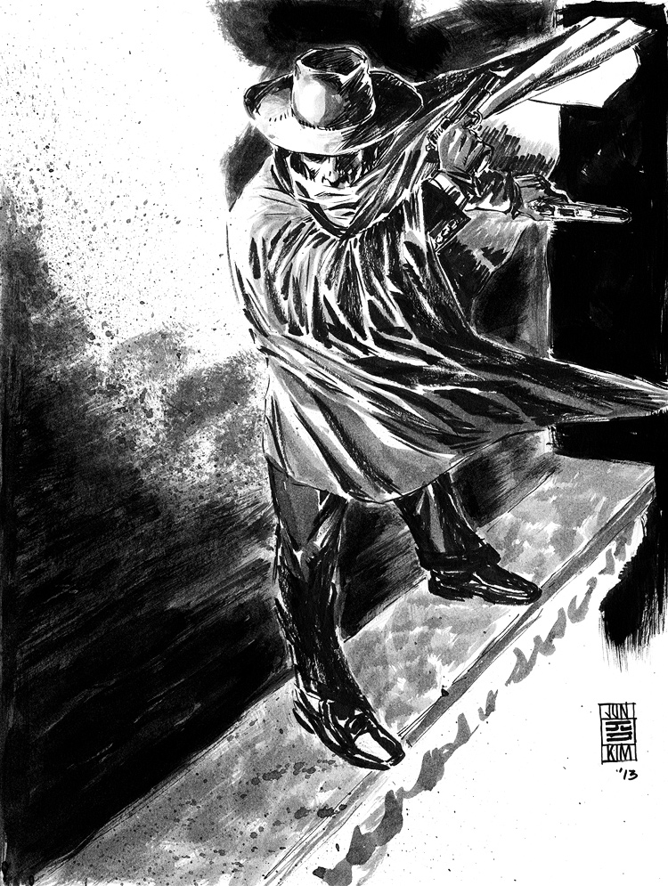 The Shadow - Pulp Sketch by Jun Bob Kim