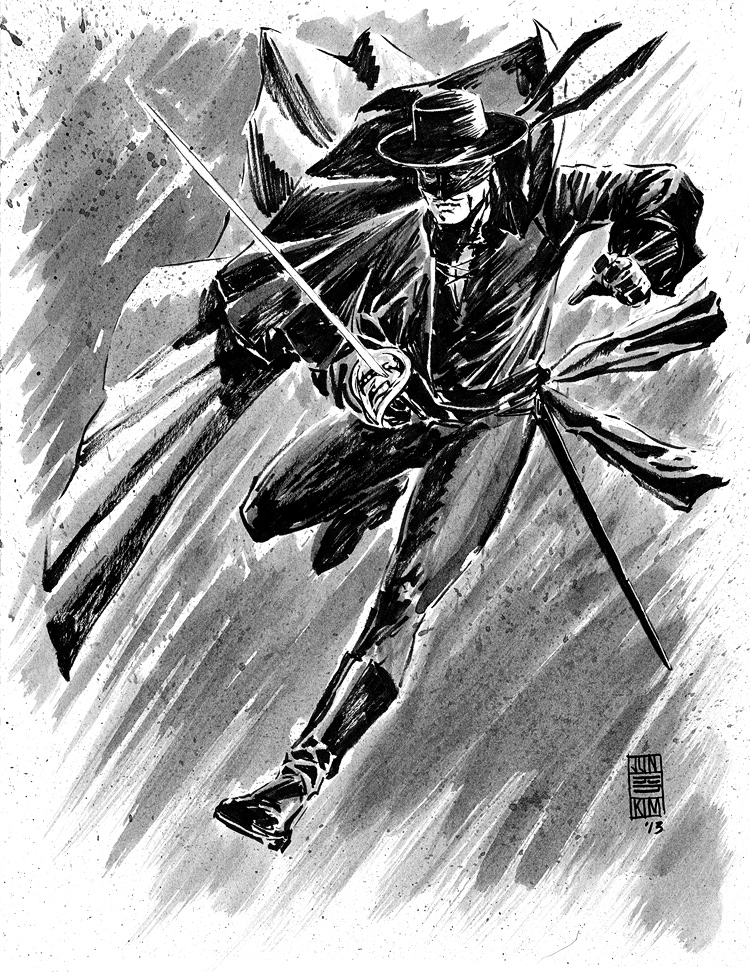 Zorro - Pulp Sketch by Jun Bob Kim