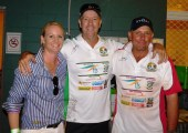 TDDCDA president, Stuart Law and Local team captain