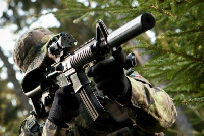 Airsoft in action in the Czech Republic