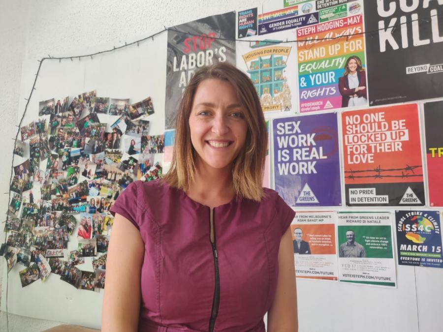 Greens' candidate for Macnamara - Steph Hogins-May.