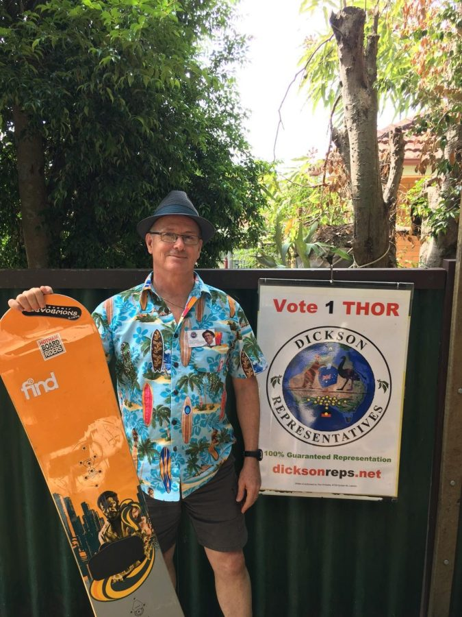Independent candidate for Dickson, Thor Prohaska, is looking for redemption in the  election as he battles the hierarchy of old school politics with snowboard in hand