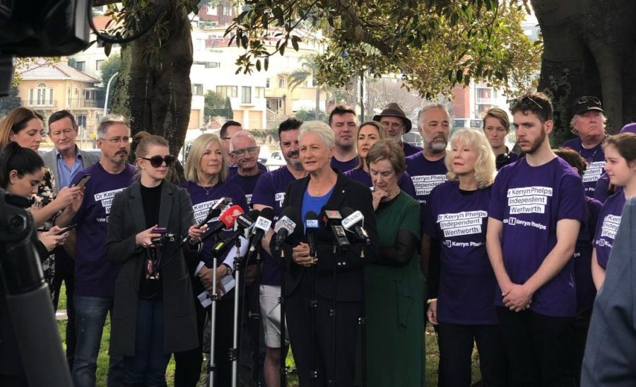 Kerryn Phelps thanks supporters at Steyne Park, Double Bay