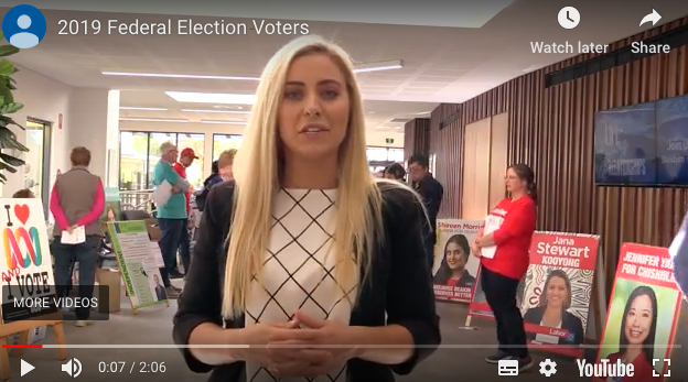 Still from the video of Deakin student Jordy Wright interviewing voters in the Chisholm electorate.