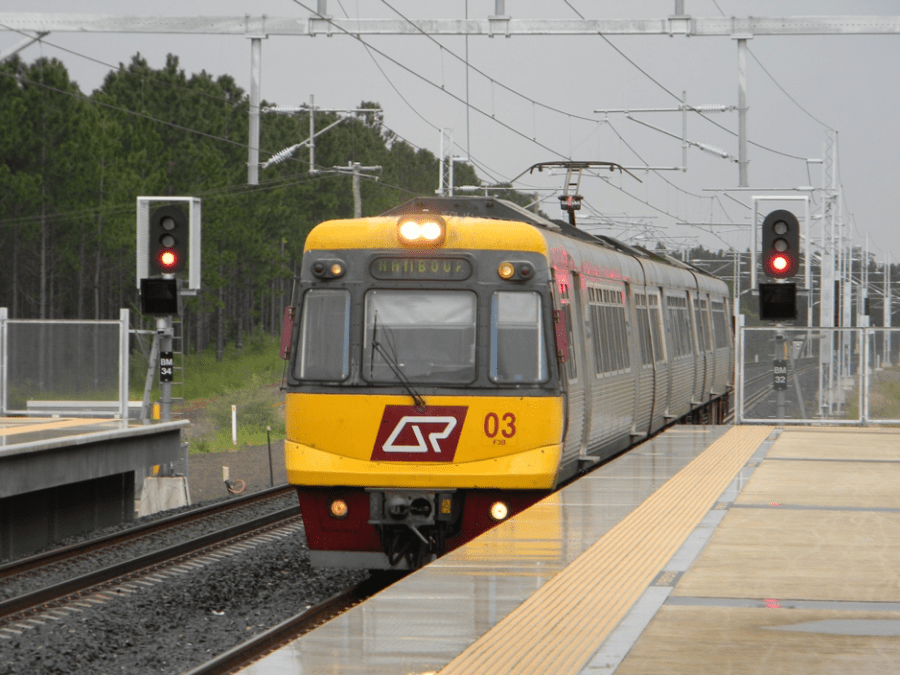 A+train+en-route+to+the+Nambour+Train+Station+on+the+NCL+which+is+at+the+centre+of+debate+regarding+the+B2N+Project