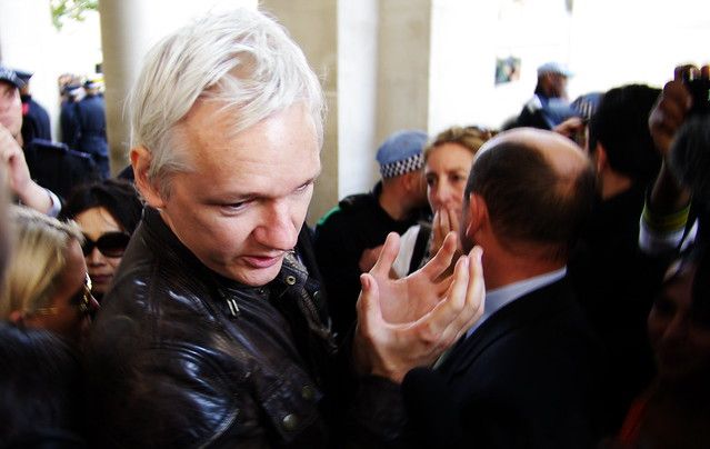 Julian Assange in London. (Photo: By Hadyn Wheeler/Flickr CC BY-NC-SA 2.0)