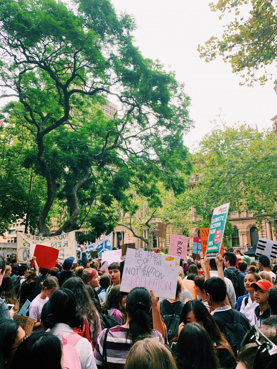 Thousands of students converged on Sydney's Town Hall on March 15 calling for climate action.