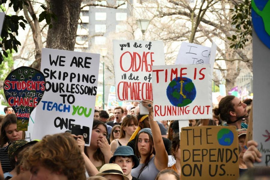The Global Climate Strike in Melbourne. Photo by Christina Jingjie Liu
