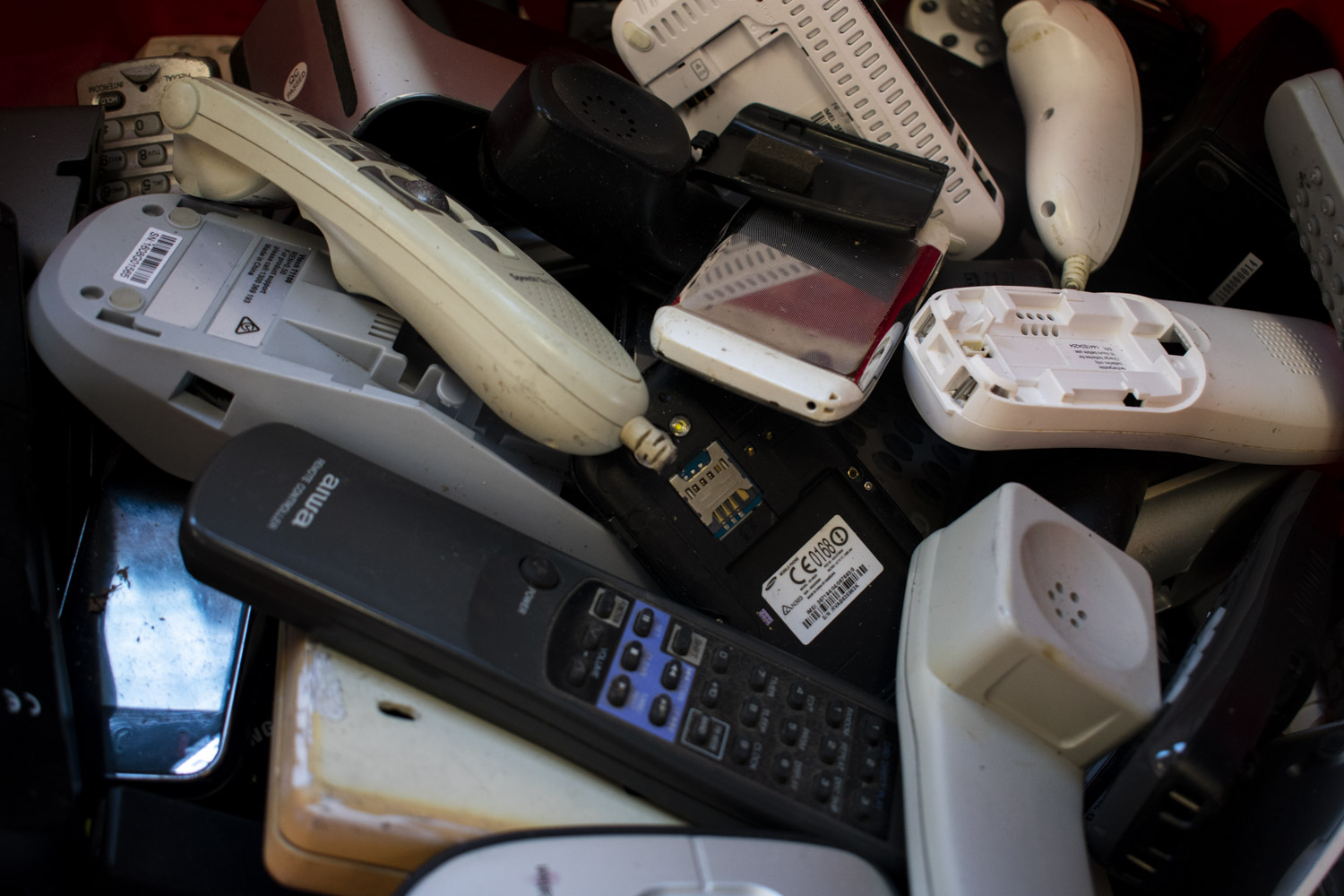 Word spread quickly that eWaste Connection was taking old, broken and unwanted electronic items, including used mobile and landline phones.
