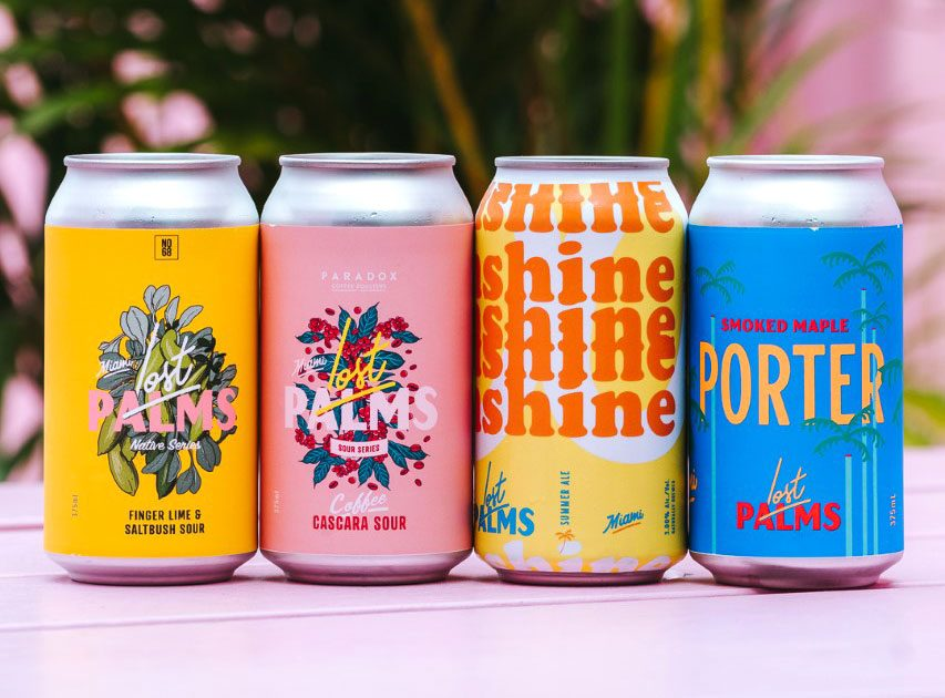 Lost Palms Brewing Co. are steering away from the masculine stereotypes often associate with beer and embracing a relaxed, holiday vibe. Photo: Lost Palms Brewing Co.