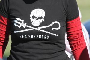 The distinctive Sea Shepherd logo.