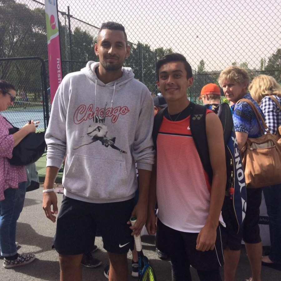 Kyrgios flew Andrew Richards to Melbourne to watch the Australian Open.