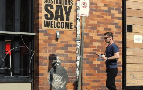 Street art in Brisbane, Australia showing support for refugees and asylum seekers. Photo: Christy Gallois (CC0 1.0)