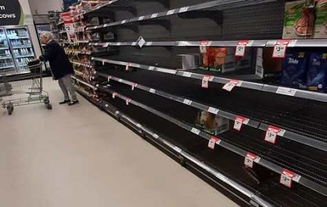 The rice aisle stripped bare at Woolworths in Katoomba. Photo: Blue Mountains Library (CC BY-SA 2.0)