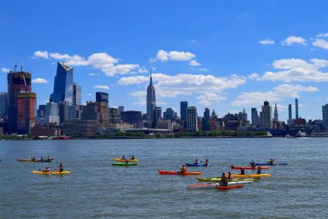 Kayaks on New York