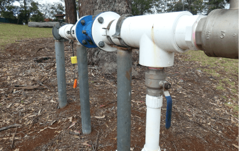 PHOTO: A typical bore pump on Tamborine Mountain (image by Abby Williams)