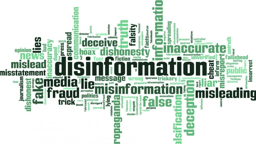 Wordcloud for disinformation