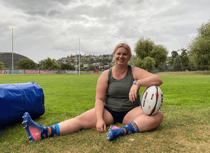 Tamar Valley Vixens president Rhiannon James gears up to make history. Photo: Brielle Quigley