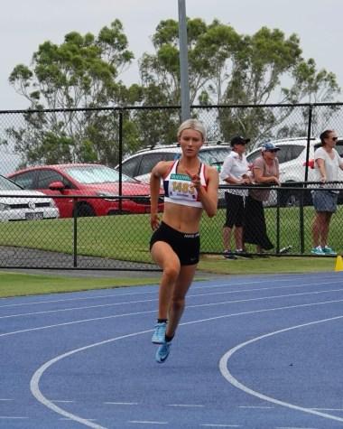 Running like the wind ... Stephanie Welsh in full flight. By Stephanie Welsh