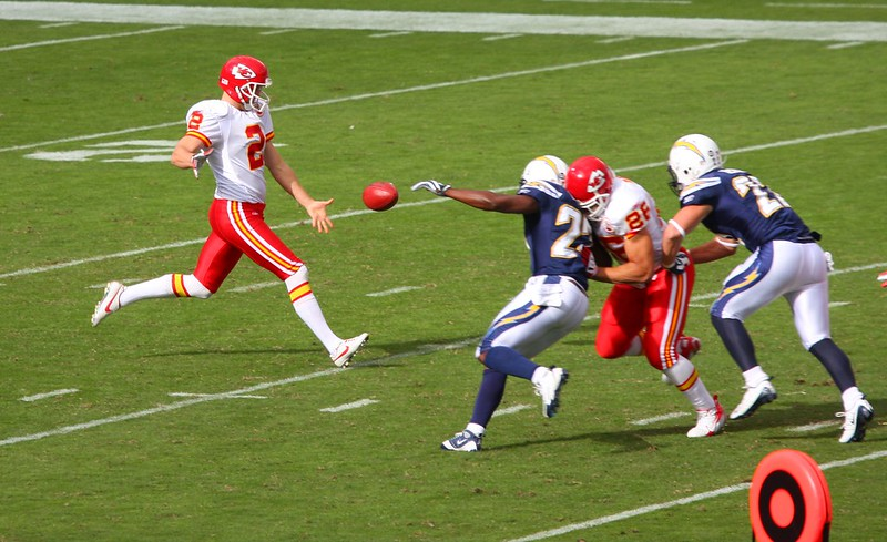 A punter has to react faster than a quarterback